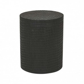 Zahra Block Side Table by Globe West - Black Dapple