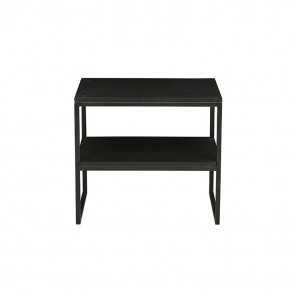 Baxter Shelf Side Table by GlobeWest - Dark Wenge