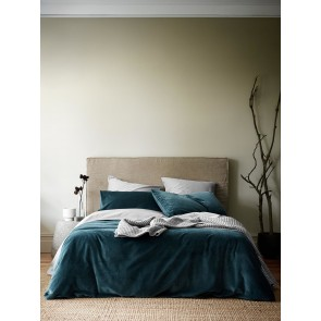 Luxury Velvet Duvet Cover by Aura - Indian Teal
