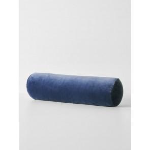 Luxury Velvet Bolster Cushion by Aura - Bijou Blue