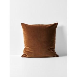 Luxury Velvet Cushion by Aura - Tobacco