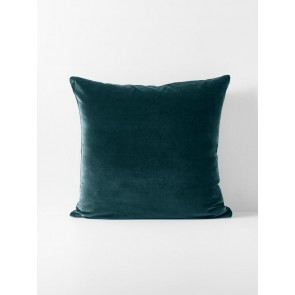 Luxury Velvet Indian Teal Euro Pillowcase Each