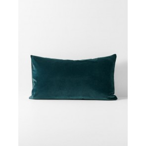 Luxury Velvet Indian Teal Standard Pillowcase Pair