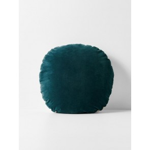 Luxury Velvet Round Cushion by Aura - Indian Teal