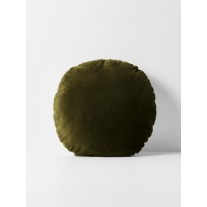 Luxury Velvet Round Cushion - Khaki
