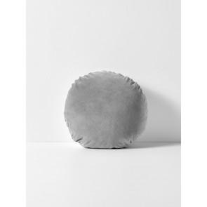 Luxury Velvet Round Cushion by Aura - Pebble