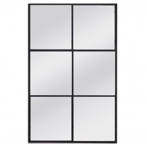 Window Mirror I with Metal Frame