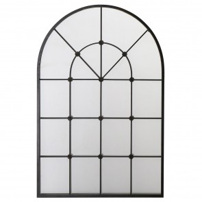 Arch Window Mirror with Metal Frame