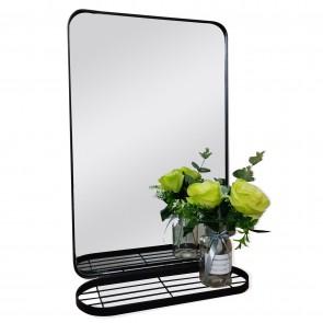Vertana Metal Mirror with Shelf