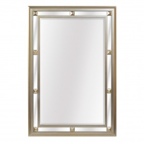 Champagne Bevelled Wall Mirror