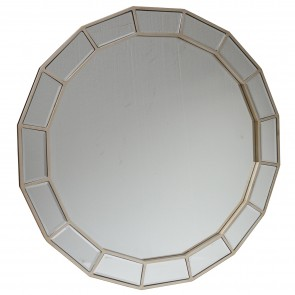 Beveled Centre Mirrored Wall Mirror