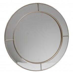 Beveled Centre Segment Round Mirror