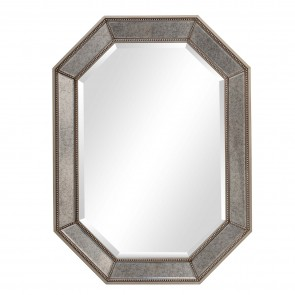 Octagon Beveled Wall Mirror