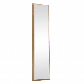 Bevelled Dress Mirror - Gold