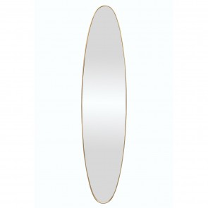 Oval Dress Mirror - Gold