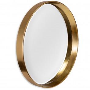 Round Bevelled Wall Mirror