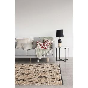 Mulberi Mainsail Natural-Black Floor Rug