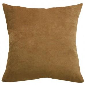 Mulberi Majestic Velvet/Linen Cushion - Saddle