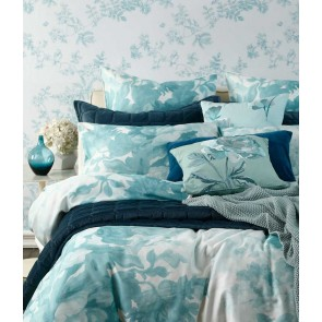 Meeka Quilted Comforter Set by MM Linen - Indigo