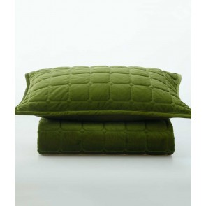Meeka Quilted Comforter Set by MM Linen - Pesto