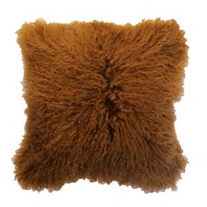 Mulberi Meru Tibetan Lamb Cushion Cassia Bark
