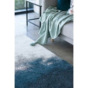 Limon Saxony Mer - Sea Green-Cream Floor Rug
