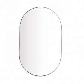 Elle Oval Mirror - Brushed Gold