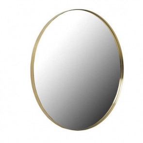 Elle Round Mirror 100cm - Brushed Gold