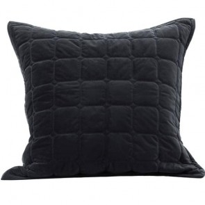 Meeka Quilted Euro Case Pair Ebony