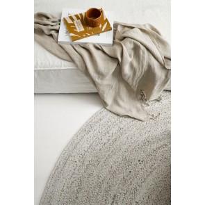 Mulberi In & Outdoor Mornington Round Dark Pale Sand Floor Rug
