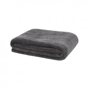 Microplush Throw by Bambury- Charcoal