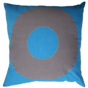 Mulberi TicTacToe Ring Blue Cushion