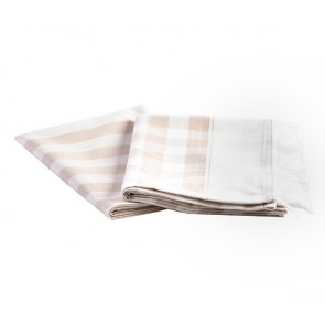 Buffalo Fringe Tea Towel Moonbeam Set of 4