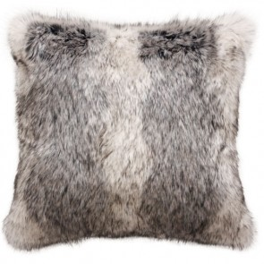 Heirloom Mountain Wolf Square Cushion