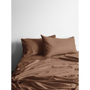 Halo Organic Cotton Sheet Set by Aura - Tobacco