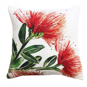 Limon NZ Watercolour Pohutukawa Cushion