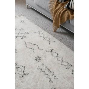 Mulberi Ombo Black Natural White Floor Rug