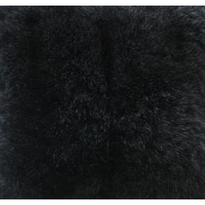 Collezióne Opussum Natural Fur Throw - Dyed Black