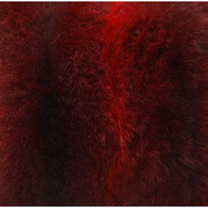 Collezióne Opussum Natural Fur Throw - Dyed Red