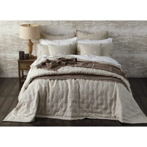 Laundered Linen Bedspread by MM Linen Natural