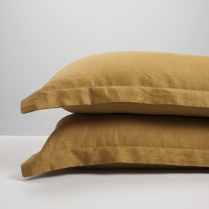 Cinnamon Linen Pillowcase Pair