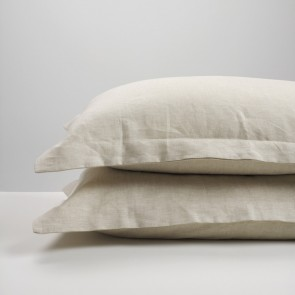 Natural Linen Pillowcase Pair