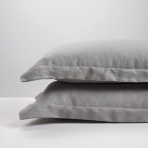 Smoke Linen Pillowcase Pair