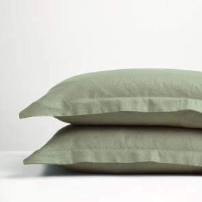 Sage Green Linen Pillowcase Pair