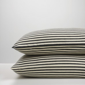 Black Ticking Stripe Pillowcase Pair