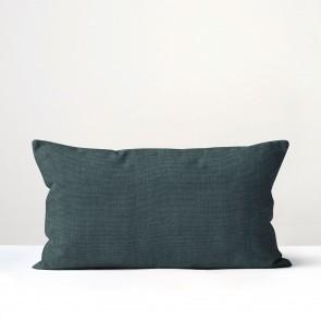 Peacock Italian Linen Long Cushion - Made in NZ