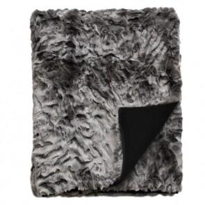 Heirloom Pewter Chinchilla Faux Fur Throw