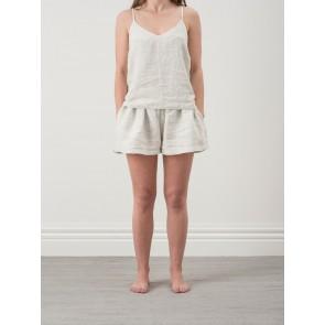 Pinstripe 100% Linen Camisole