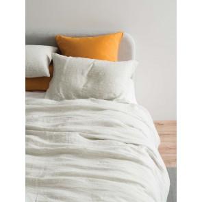 Pinstripe 100% Linen Duvet Cover