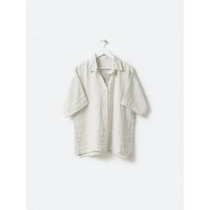 Pinstripe Linen PJ Shirt